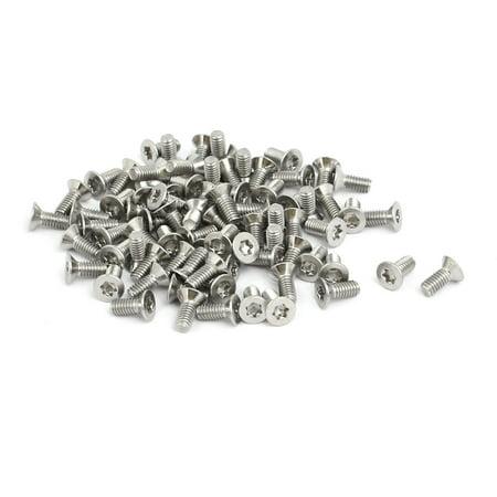 M2.5x6mm 304 Stainless Steel Flat Head Torx Drive Type Screw Silver Tone 80pcs - image 3 of 3