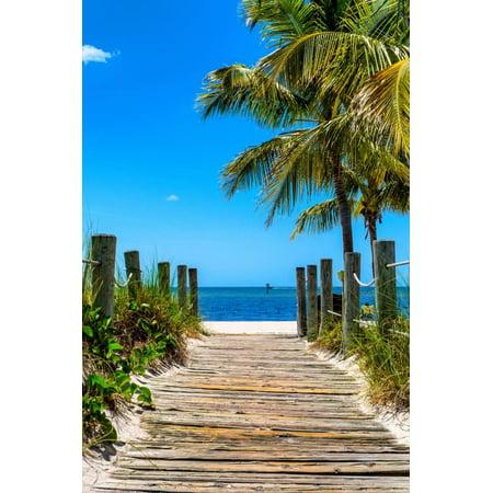 Boardwalk On The Beach Key West Florida Print Wall Art By Philippe Hugonnard