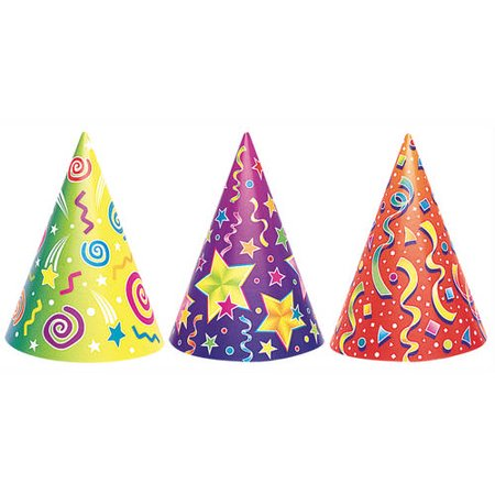 - Fancy Party Hats, Assorted 6ct