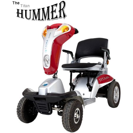 Tzora   Hummer Xl Folding Scooter   4 Wheel   Red   Phillips Power Package Tm    500 Value