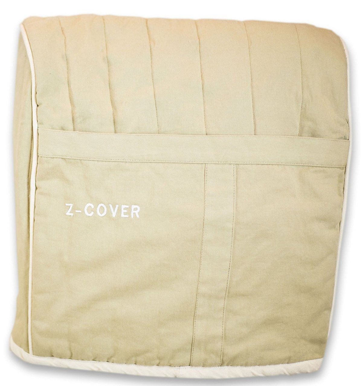 Z-Cover Mixer Cover For Tilt-Head Stand, Artisan and Classic Mixers - Heavyweight 100% Cotton Quilted Cover - Prevents Dust and Grease From Getting On Your Expensive Kitchen Stand Mixer - Silver