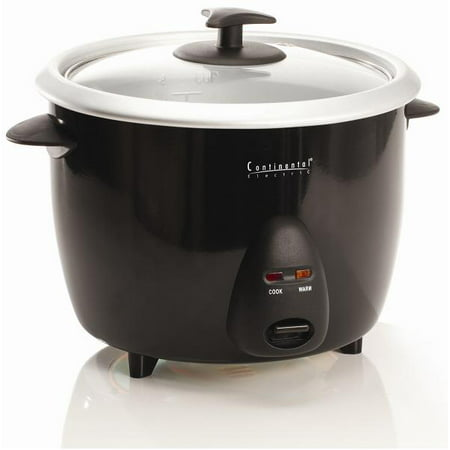 Continental Manufacturing Company 8-cup Rice Cooker, Black