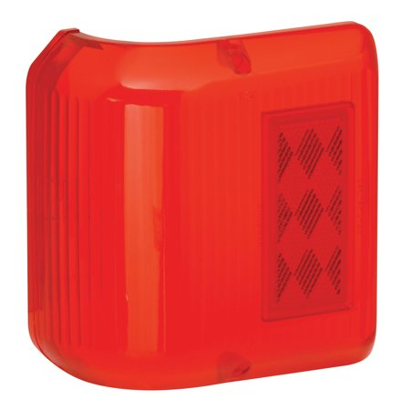Bargman 34-86-711 Wrap Around Clearance Light #86 - Red Replacement Lens (Light Red Replacement Lens)