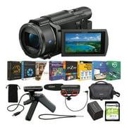 Sony FDR-AX53 4K UHD Handycam Camcorder Content Creator Bundle
