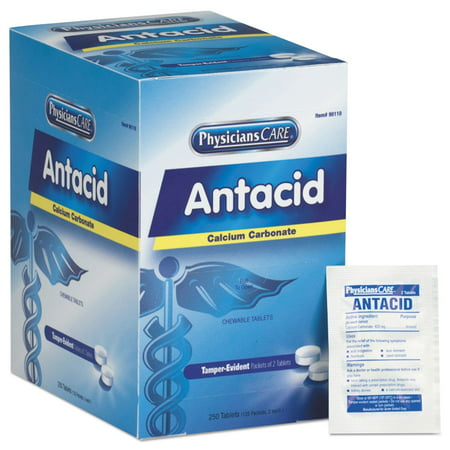 Over the Counter Antacid Medications for First Aid Cabinet, 250