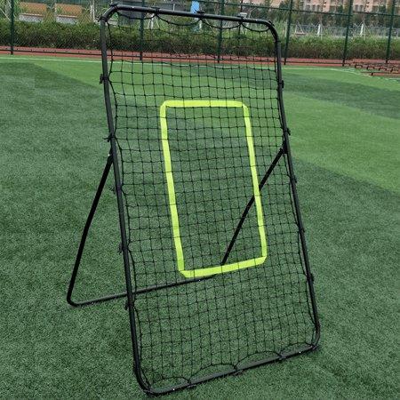 Softball Throwing Drills (UBesGoo 4.6' x 3' x 2.6' Rebound Baseball Goal, Soccer Softball Net Throwing PitchingTraining, for Kids Youth, Backyard, Park)