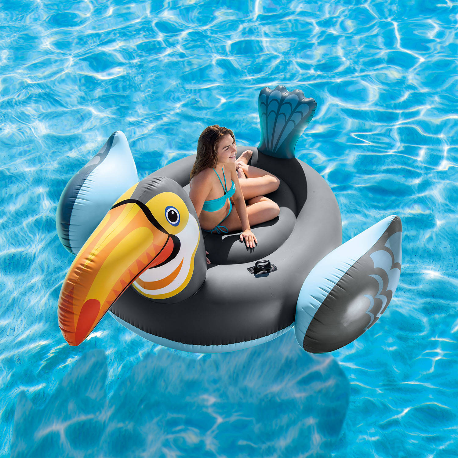 Intex Inflatable Mega Toucan Island Float  sc 1 st  Walmart.com : canopy island intex - memphite.com