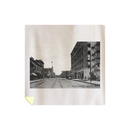 Boise, Idaho - View of Main Street - Vintage Photograph (88x88 Queen Microfiber Duvet Cover)