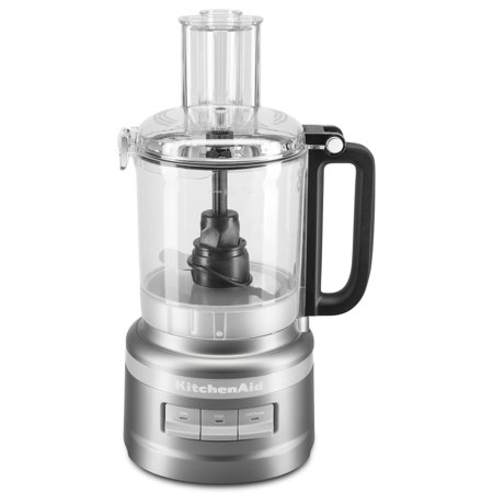 KitchenAid KFP0918CU 9 Cup Food Processor, Contour Silver