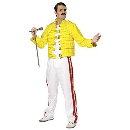 Halloween Concert Dallas (Freddie Mercury Wembley Stadium Queen Costume Jacket Pants Yellow Concert)