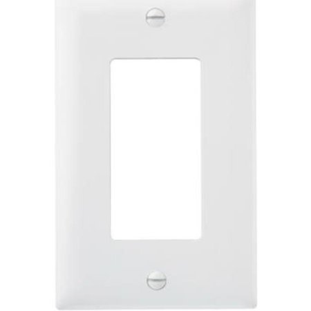 White 1G Decor Wall Plate Pass and Seymour Wall Plates TP26WCC100 785007275117