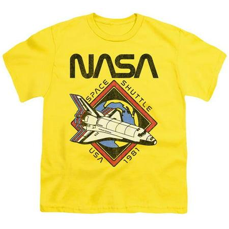 Trevco Sportswear NASA155-YT-1 NASA & 1981-Short Sleeve Youth 18-1 T-Shirt, Yellow - Small - image 1 of 1
