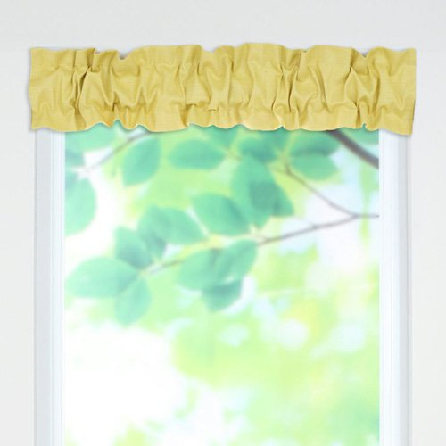 Brite Ideas Living Circa Solid Pina Sleeve Topper Valance