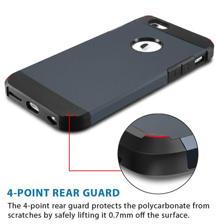 LivEditor [Scratch Resistant]Apple iPhone 6 Plus Case 5.5 inch Resistant Hybrid Armor Case - image 2 of 7