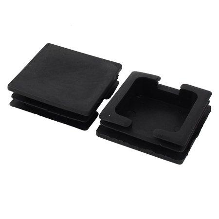 Home Plastic Square Cabinet Legs Protecter Tube Insert Black 74 x 74mm 6 Pcs - image 2 of 2