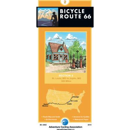 Bicycle Route 66 Map #2 : St. Louis, Mo - Joplin, Mo (Costumes St Louis Mo)