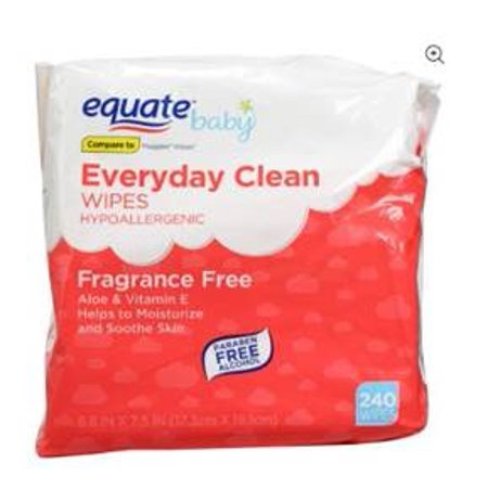 Equate Baby Everyday Clean Wipes, Fragrance Free (240 ct) - Mr Clean Baby For Halloween