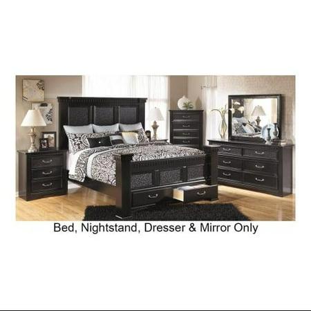 Ashley Cavallino B29170158166S99313592 4-Piece Bedroom Set with King ...