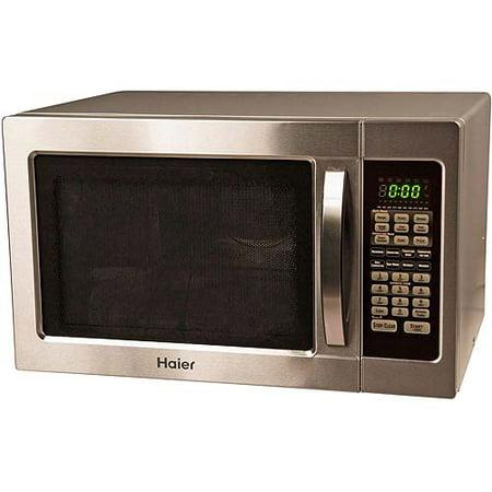 Haier 1000 Watt Stainless Steel Microwave Walmart Com