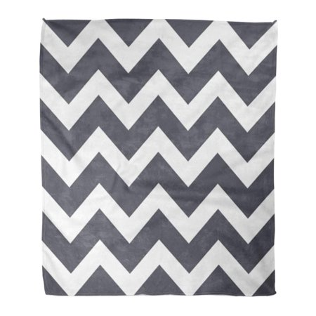 ASHLEIGH Throw Blanket Warm Cozy Print Flannel Chevron Pattern Geometric The for Layouts and Websites Grey Color Comfortable Soft for Bed Sofa and Couch 58x80 Inches ()