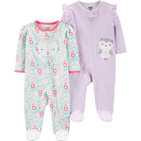 Sleep N Play Bundle, 2 pack (Baby Girls) (Carter's Baby Halloween)