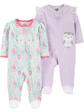 e5a7be631009 Baby Girls Pajamas - Walmart.com