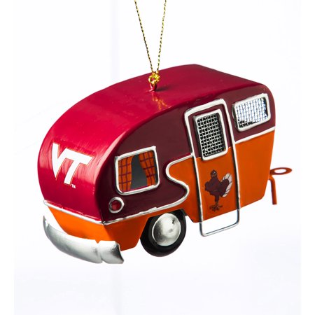 Virginia Tech Hokies Metal - Virginia Tech Hokies Metal Camper Ornament