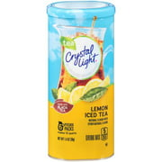 (72 Pitcher Packs) Crystal Light Lemon Iced Tea Drink Mix, 1.4 oz