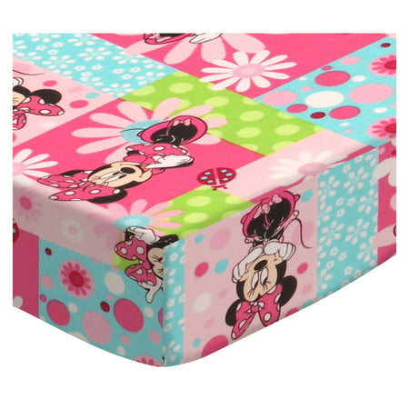 Sheetworld Ed Pack N Play Graco Square Playard Sheet Minnie Mouse Patch