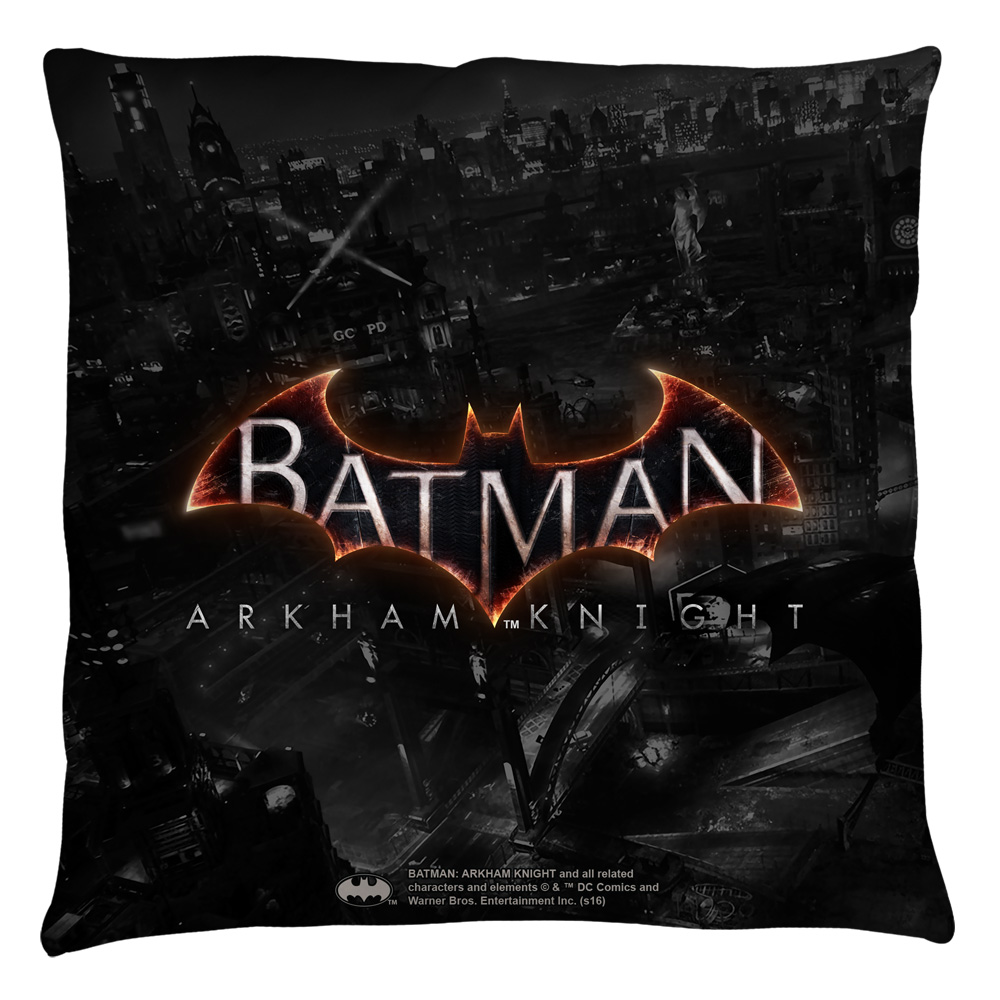 Batman Arkham Knight Ak Logo Throw Pillow White 20X20