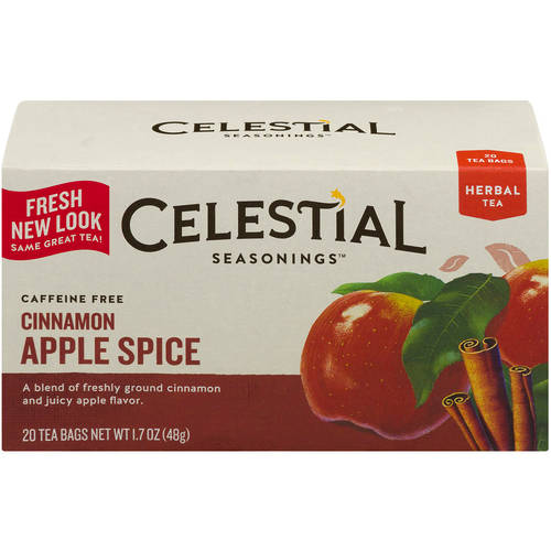 Celestial Seasonings Cinnamon Apple Spice Herbal Tea, 20ct