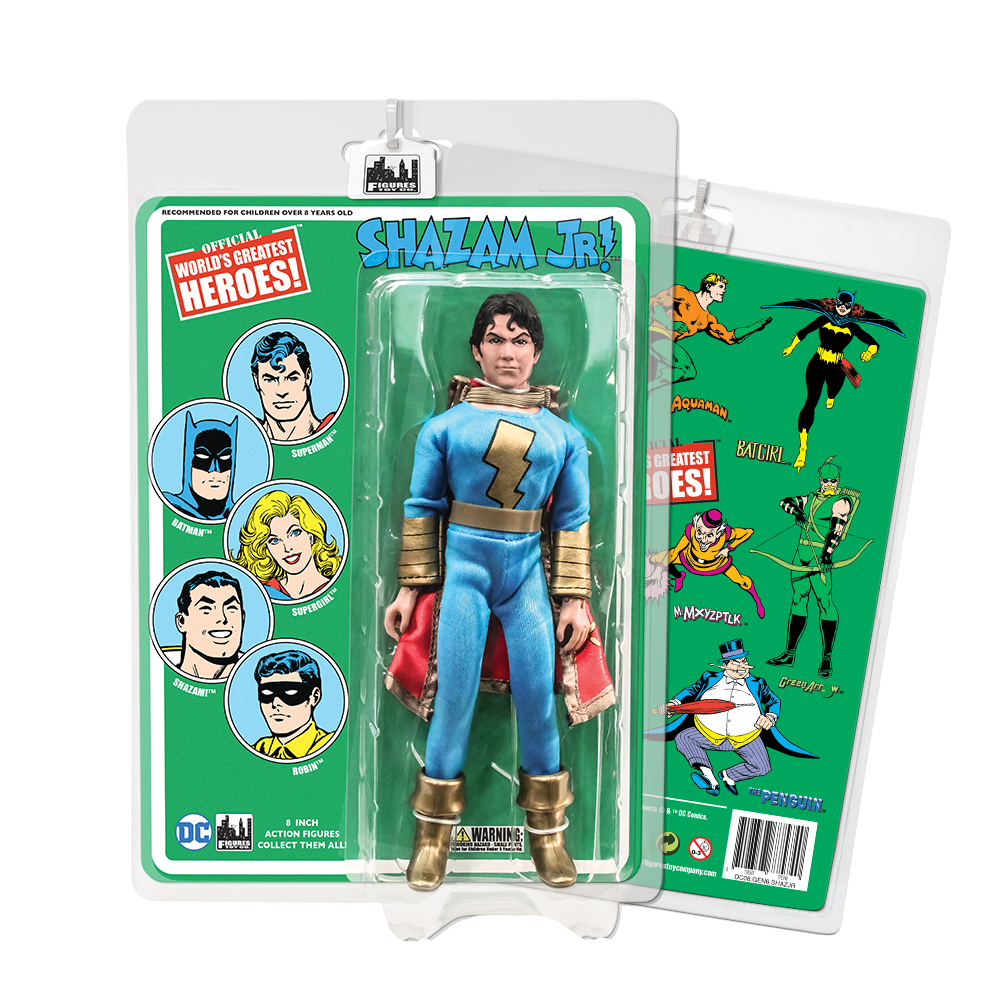 DC Comics 8 Inch Action Figures With Retro Cards: Shazam Jr. [Blue & Gold]