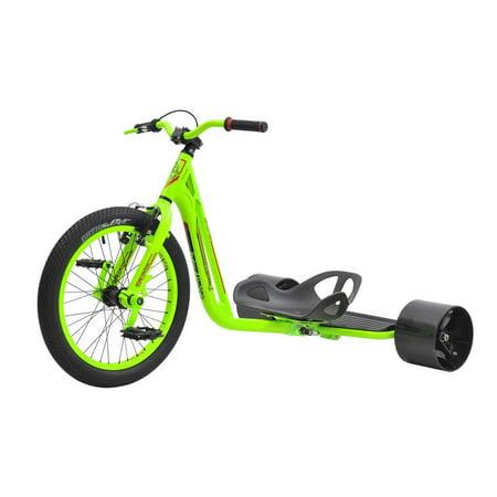 Triad Drift Trike - Underworld 3 Lantern 2 - Adult Tricycle with Glow in the Dark Frame - Adult Sized Green Machine
