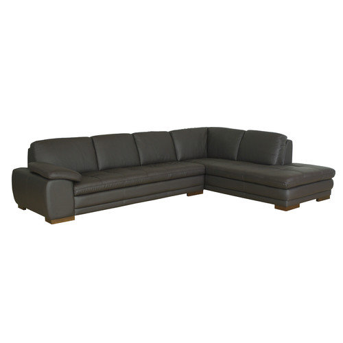 Wholesale Interiors Jaquenetta Reversed Leather Sectional