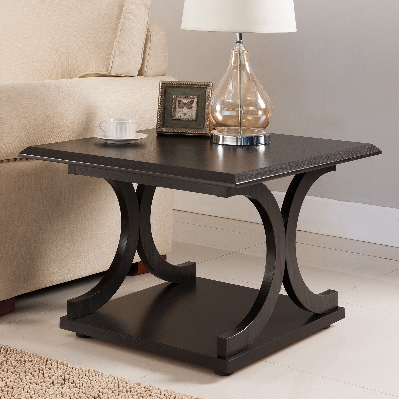 Furniture of America Curved End Table