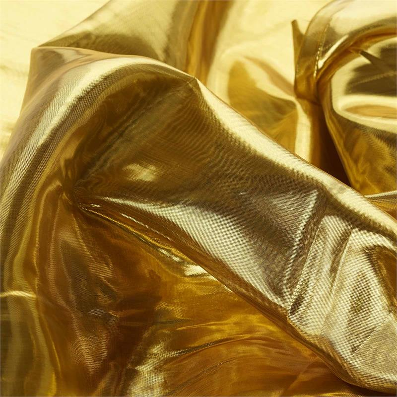 "BalsaCircle 54"" x 10 yards Metallic Shiny Tissue Lame Fabric Bolt Put-up - Sewing Crafts Draping Decorations Supplies"