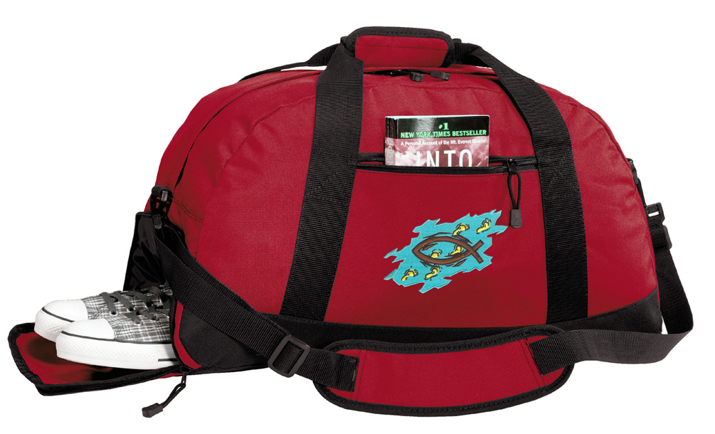 Christian Gym Bags Christian Duffle Bag WITH SHOE POCKET! by