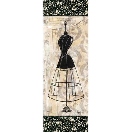 French Country Mini (Dress Form Panel II - Mini Picture Sign Awesome Ad Advertisement Fashion Cool French Dorm Decor 6X18)