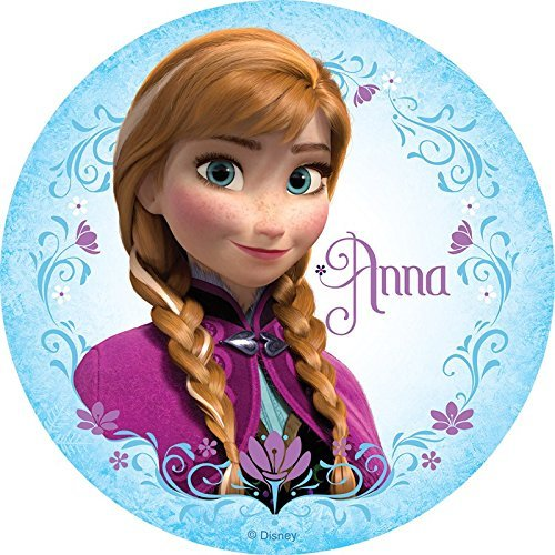 Frozen Elsa Anna Edible Image Photo Cake Topper Sheet Birthday Party - 8 Inches Round - 10063