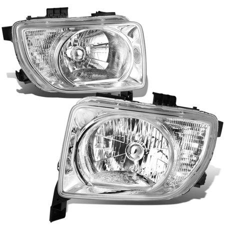 For 2003 to 2008 Honda Element SC Headlight Chrome Housing Clear Corner Headlamp 04 05 06 07 SUV Automatic (Honda Element Headlight Headlamp)