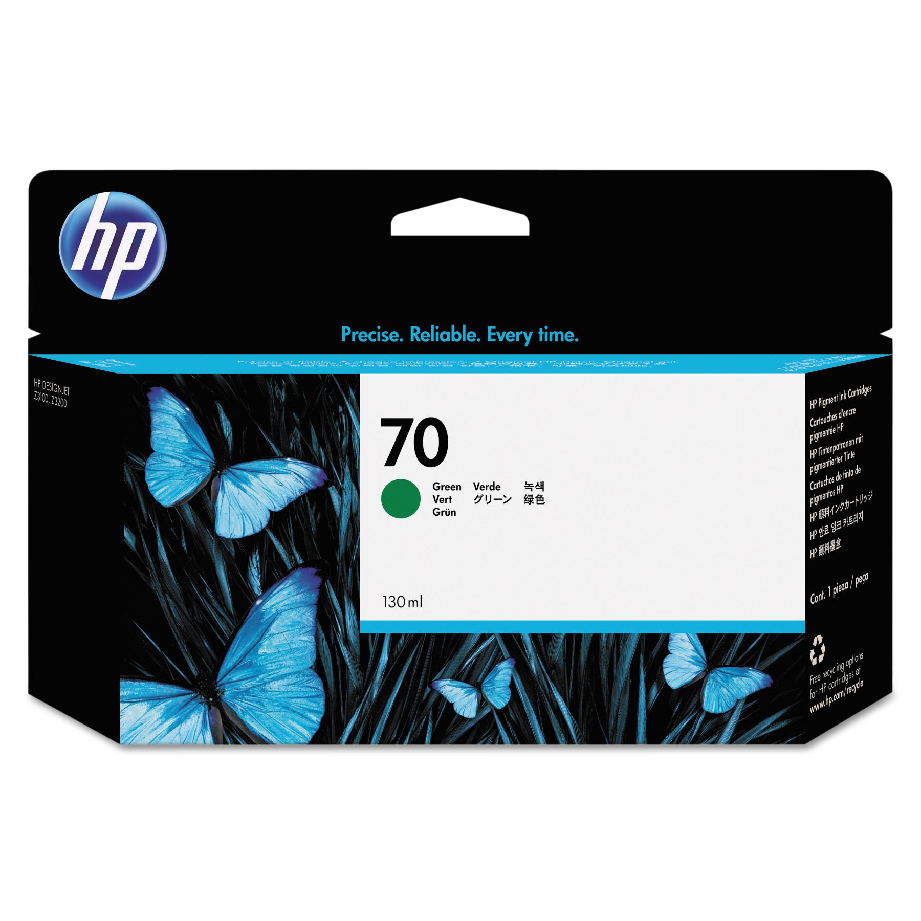 HP HP 70, (C9457A) Green Original Ink Cartridge
