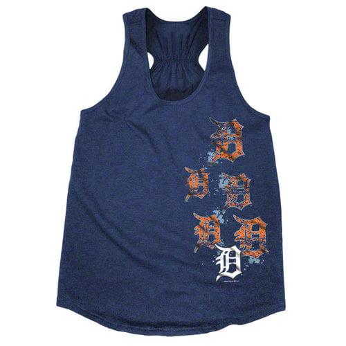 MLB - Detroit Tigers Navy Women's Oversized Slub Knit Tank Top