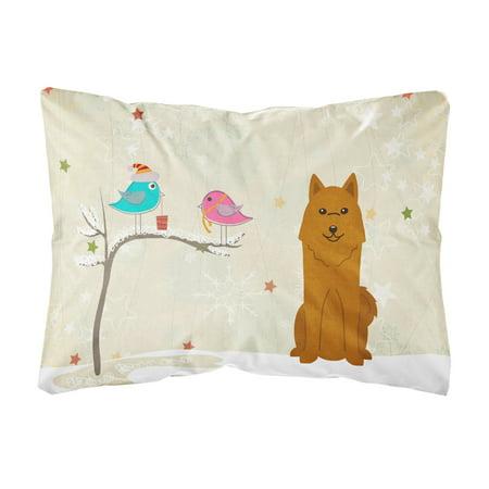 Christmas Presents between Friends Karelian Bear Dog Canvas Fabric Decorative