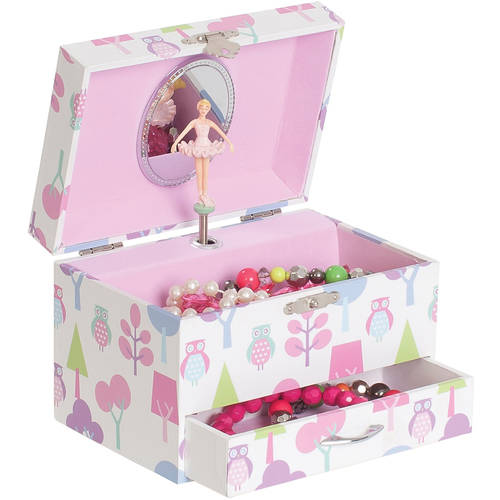 Molly Girls' Musical Ballerina Jewelry Box, Owl Pattern
