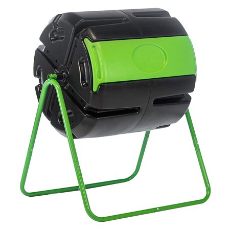 FCMP Outdoor HOTFROG Roto 37 Gal Plastic Rotating Tumbling Composter Compost Bin Compost Plastic Composter