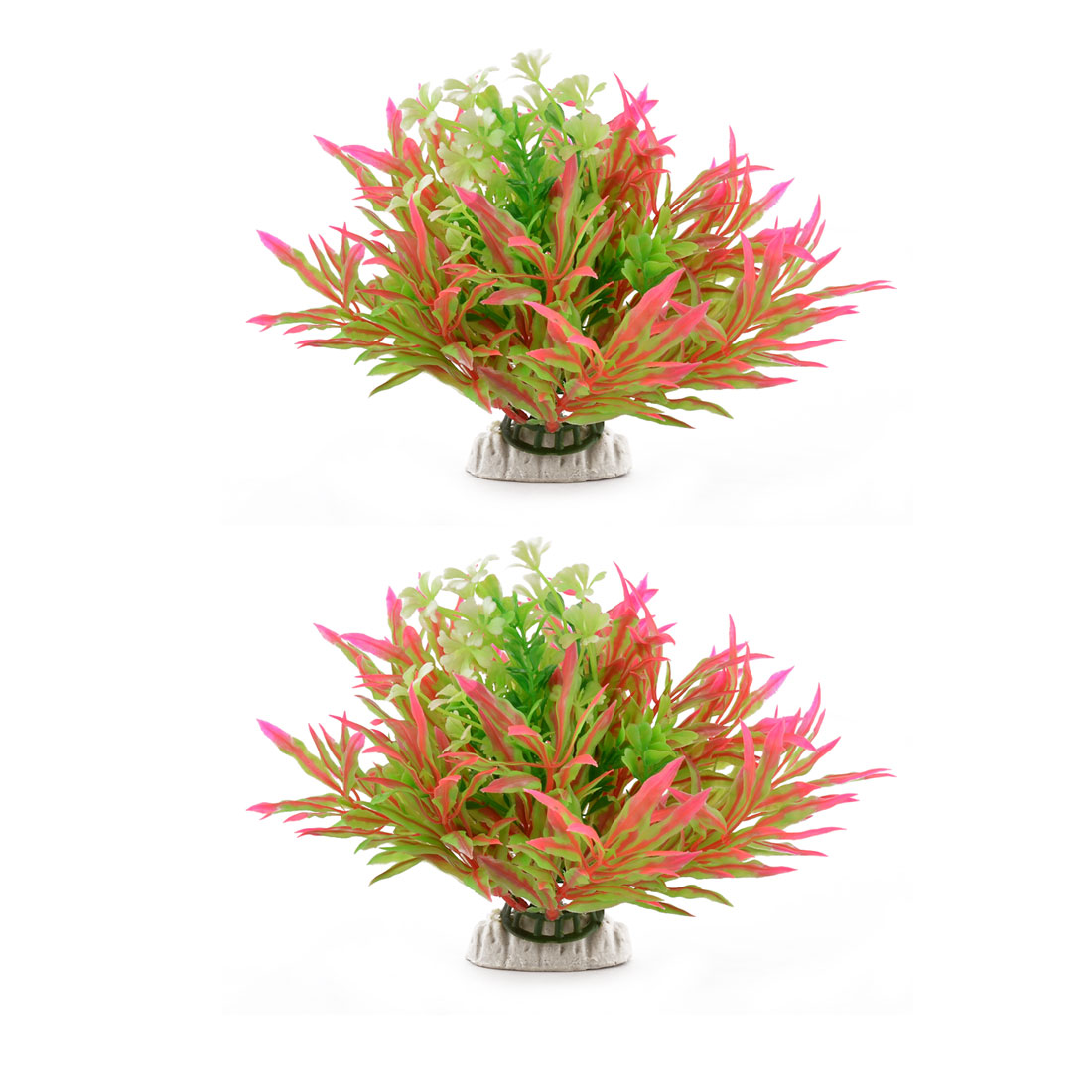 Fish Bowl Tank Landscape Artificial Water Plant Grass 15cm Height 2pcs - image 2 of 2