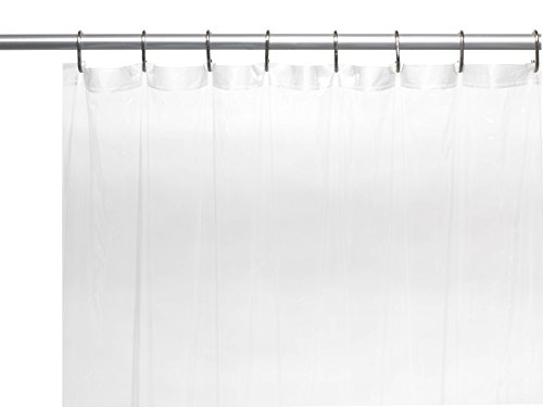 Royal Bath Extra Long 5 Gauge Vinyl Shower Curtain Liner With Metal  Grommets In Frosty Clear