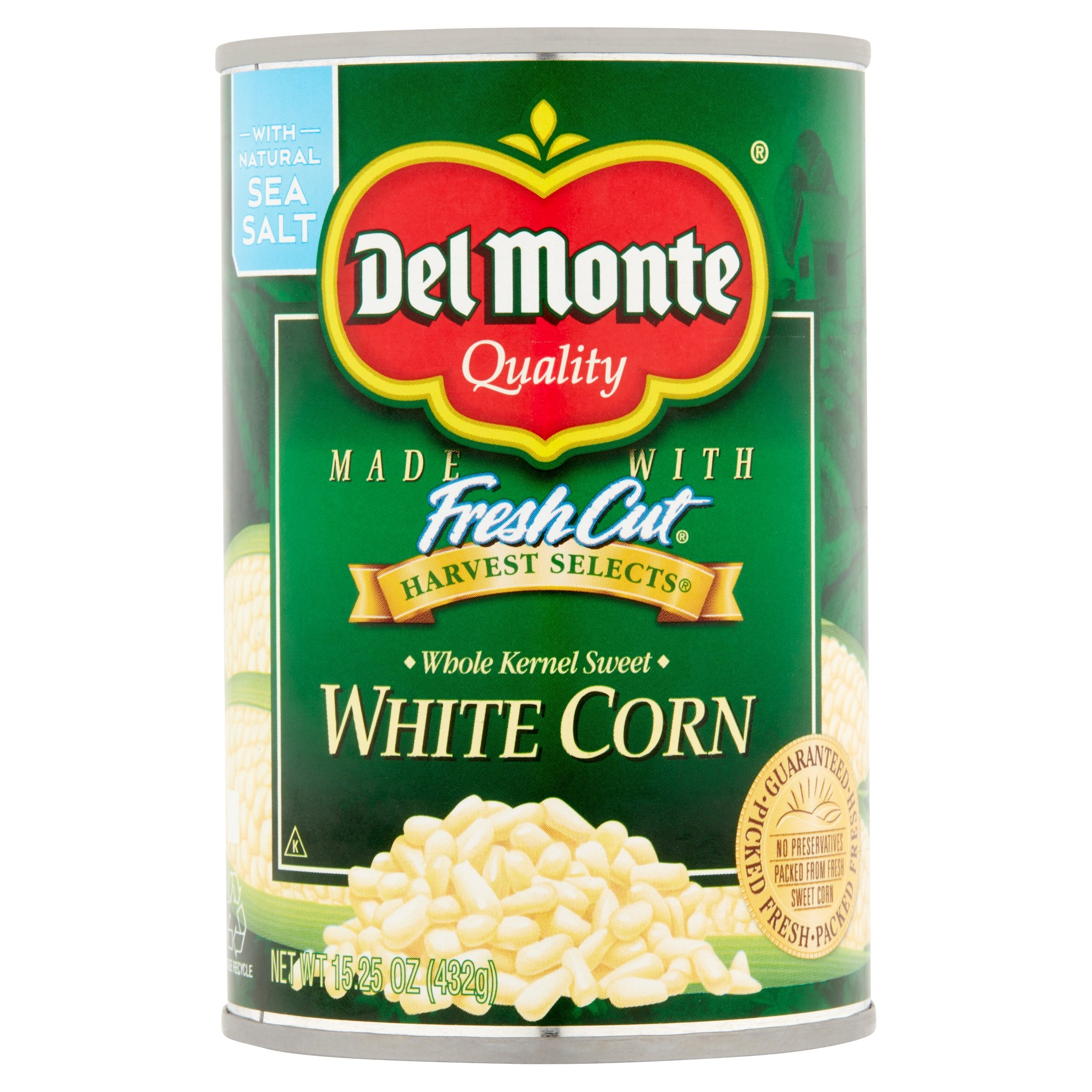 Del Monte Sweet White Corn, Whole Kernel, 15.25 Oz