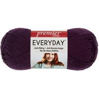 Premier Yarns Anti-Pilling Everyday Worsted Solid Yarn-Aubergine