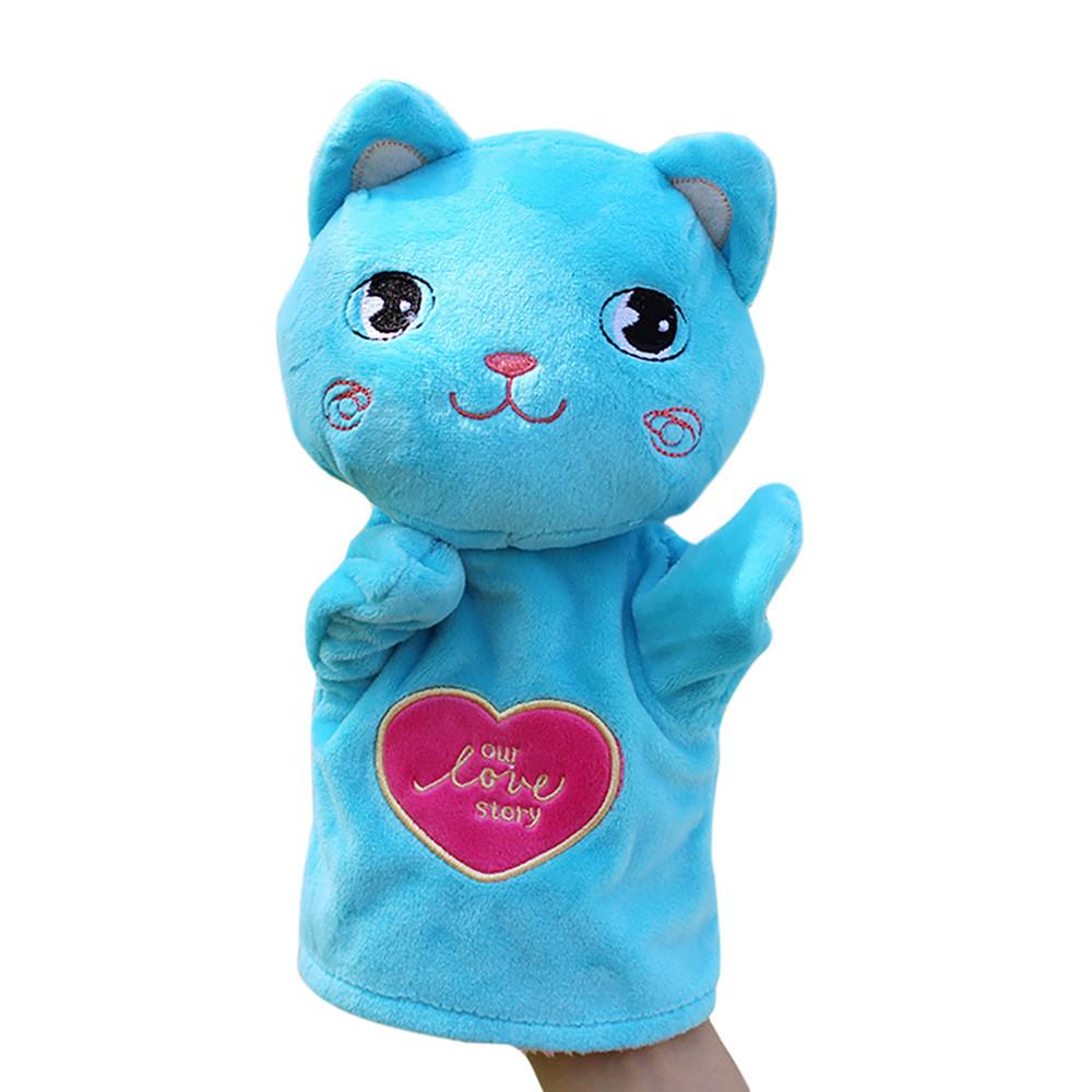 Mosunx Kids Glove Hand Puppet Soft Plush Finger Toys Cute Cartoon Animal Doll Toys